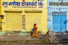 在北印度的天的只雇佣工会会员的工厂 库存照片