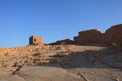 在北复合体附近的塔在马萨达 库存图片