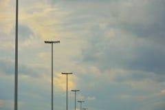 在北天空的灯笼 库存照片