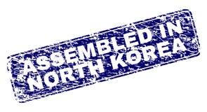 在北朝鲜装配的难看的东西构筑了被环绕的长方形邮票 皇族释放例证