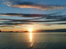 在北极的日落 库存图片