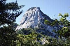 在北汉山国立公园,汉城,韩国的Insubong峰顶 库存图片