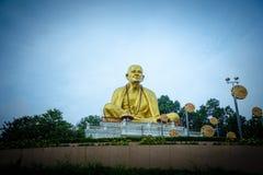 在北泰国历史公园的菩萨Sri Wichai雕象 库存照片