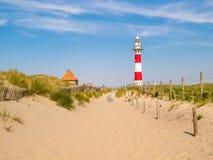 在北海的海岸的灯塔 库存图片
