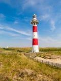 在北海的海岸的灯塔 免版税库存照片