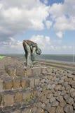 在北海的Afsluitdijk荷兰水坝 免版税库存图片