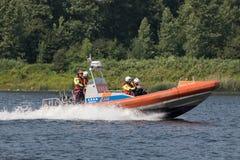 在北海运河的KNRM救生艇同花大顺 库存图片