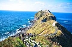 在北海道的半岛的海角Kamui 图库摄影
