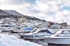 在北海道,日本的函馆海湾 免版税库存照片