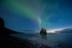 在北的Hvitserkur冰岛 免版税库存图片