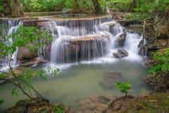 在北碧省的Waterfalll 免版税库存图片
