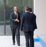 在北约峰会的美国总统贝拉克・奥巴马在纽波特 免版税图库摄影