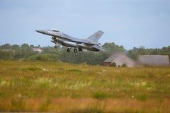 在北约老虎集会的通用动力公司F-16战隼2014年 免版税库存照片
