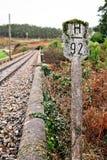 在北西班牙的老农村铁路 库存图片