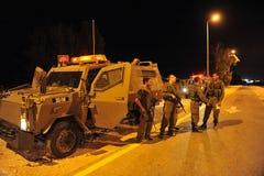 在北部加沙地带的以色列战斗机 库存照片