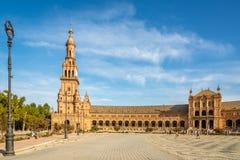 在北部塔的看法在西班牙地方在塞维利亚在西班牙 免版税库存照片