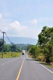 在北部山的路 免版税库存图片