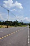在北部山的路 库存照片