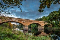 在北部泰恩河的Bellingham桥梁 免版税库存图片