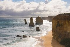 在北部澳大利亚的海岸的12 apostels 免版税库存图片