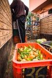 在北非供以人员卖从卡车的新鲜水果 库存照片