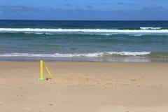 在北NSW的海滩蟋蟀,澳大利亚 免版税图库摄影