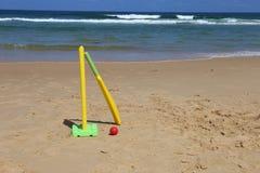在北NSW的海滩蟋蟀,澳大利亚 图库摄影