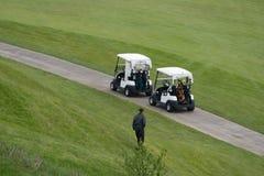 在区域外面的高尔夫球场 免版税库存照片
