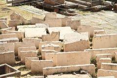 在区域骶骨小山谷`阿根廷的石头 免版税图库摄影
