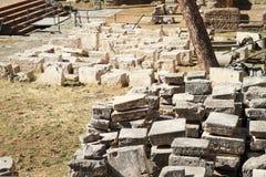 在区域骶骨小山谷`阿根廷的石头 免版税库存照片