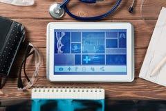 在医学的数字技术 库存图片