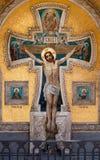 在十字架上钉死耶稣 库存照片