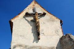 在十字架上钉死雕象 免版税图库摄影