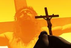 在十字架上钉死。 库存照片