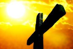 在十字架上钉死十字架 库存照片