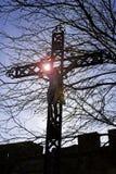 在十字架的INRI基督 库存图片