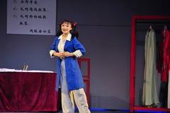 在十年浩劫演员江西OperaBlue外套以后 库存图片