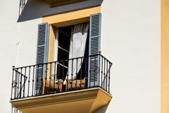 在午睡期间的西班牙阳台 图库摄影