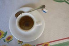在午餐以后的浓咖啡咖啡 免版税库存图片