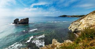 在半岛的海湾命名了在日本海的Krabbe 免版税库存图片