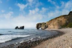 在半岛的海湾命名了在日本海的Krabbe 库存照片