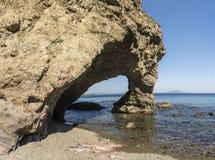 在半岛的海湾命名了在日本海的Krabbe 库存图片