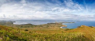 在半岛的E海湾命名了在日本海的Krabbe 免版税库存图片