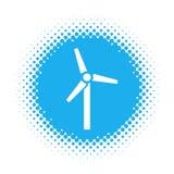 在半音圆形的风车象 库存例证