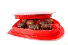 在华伦泰白色的巧克力 免版税库存照片