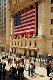 在华尔街的午餐时间 免版税库存照片