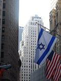 在华尔街的旗子, 库存照片