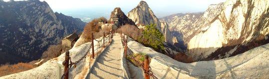 在华山山的中国人陕西旅游胜地 免版税图库摄影
