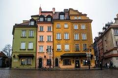 在华沙老镇的大厦  2016年11月27日 库存图片
