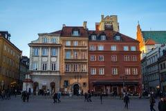 在华沙老镇的大厦  2016年11月26日 库存图片